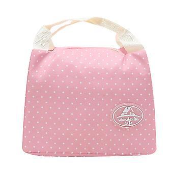 Lunch Bag Tragbare isolierte kalte Leinwand Streifen Picknick Tragen Fall Thermal