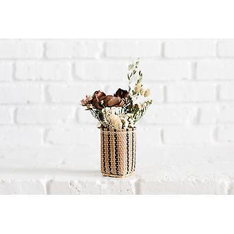 Fiori secchi decorativi in mini cestino di stoccaggio Bidayuh