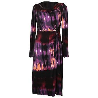 Michaela Louisa Tie-dye Effect Dress With Drape Neck