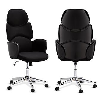 Ibbe Design Turtle Office Chair Black/Black, 65x60x121-131 cm