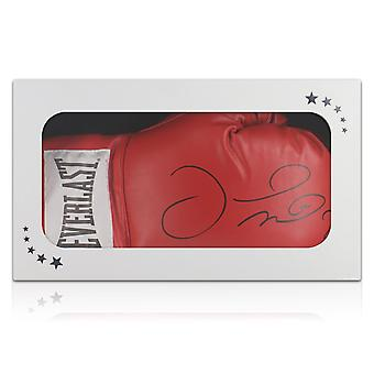 Floyd Mayweather Signed Red Boxing Glove. In Gift Box