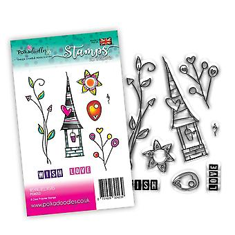 Polkadoodles Wishing Well Wishers Clear Stamps