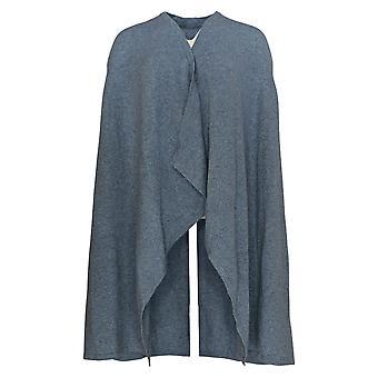 Soft By NAADAM Women's Sweater Vest Cashmere Cascade Long Blue A370920