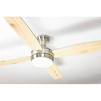 Ceiling fan Saturn Nickel with light and remote control
