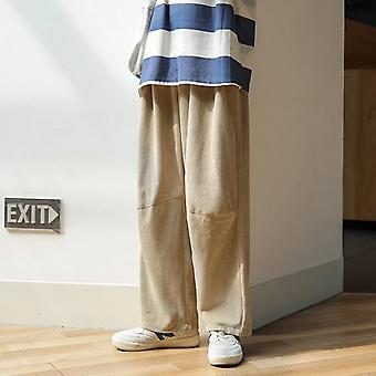 Men Wide Leg Pants, Streetwear Sweatpants, Casual Joggers Pant