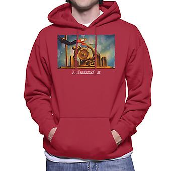 An American Tail Fievel Mousekewitz Running Men's Hooded Sweatshirt
