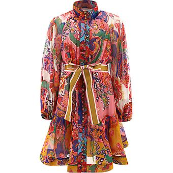 Zimmermann 9793dandmpf Women's Multicolor Cotton Dress