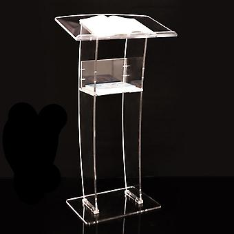 Simple Transparent  Church  Welcoming Platform Podium Table  (transparent)