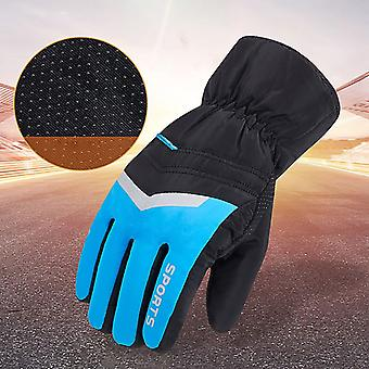 Zimní teplé pánské rukavice dotyková obrazovka, odolný proti stříkající vodě, větruodolný
