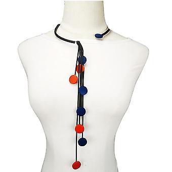 Collier en bois multicolore Femmes Colliers choker pour la chaîne de match de vêtements