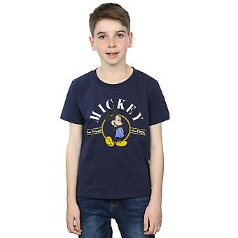 صحيح الأولاد ديزني ميكي ماوس القميص الأصلي