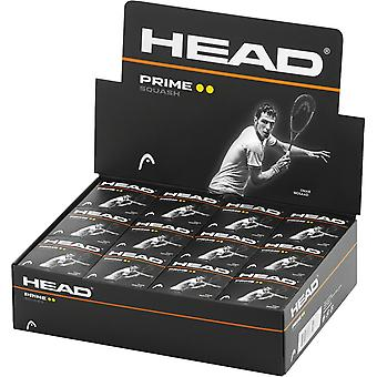 Head Prime Double Dot Squash Balls (Pack of 12)