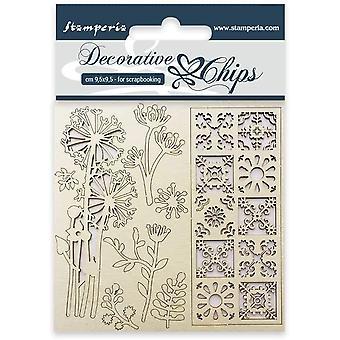 Stamperia Koristeelliset sirut Kukat ja laatta