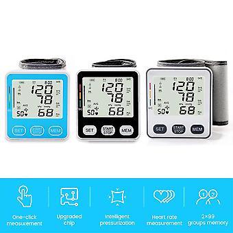 Electric wrist blood pressure monitor medical digital blood pressure automatic tonometer pulse heart beat rate meter device