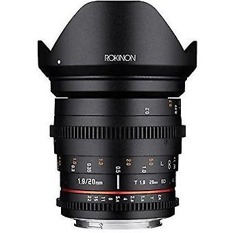 Rokinon 20mm t1.9 cine ds as ed umc wide angle cine lens for canon ef