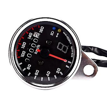 12V universal motorcycle speedometer tachometer gauge w/ led backlight