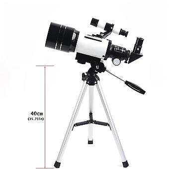 150X astronomical refractor telescope with fmc optic, barlow lens eyepiece, moon filter, phone adapter and tripod