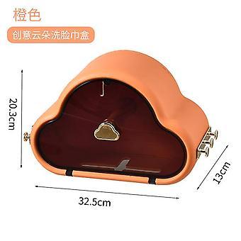 クラウド形状トイレットペーパーホルダーペーパーティッシュボックスプラスチックバスルームディスペンサー壁マウントロール紙収納ボックス無料パンチ