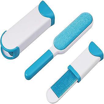 Removedor de piel / Cepillo de pelusa 2 piezas Blanco /azul