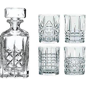 Spiegelau & Nachtmann, Whisky-Set, 5-teilig, Karaffe mit 4 Glsern, Kristallglas, Highland,