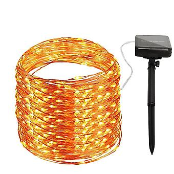 Solar-powered light loop with 100 LED lights