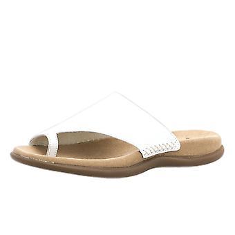 Gabor Lanzarote Confortable Sandal Mules en blanc