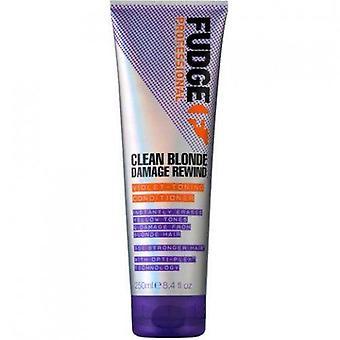 Fudge Clean Blonde Damage Rebobinar acondicionador de tonos violáceos 250 ml