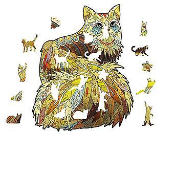 3D لعبة خشبية لعبة الأطفال التعليمية بانوراما هدية القط الذهبي شكل pt23