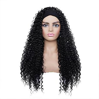 Ladies hair band long curly hair wig headgear