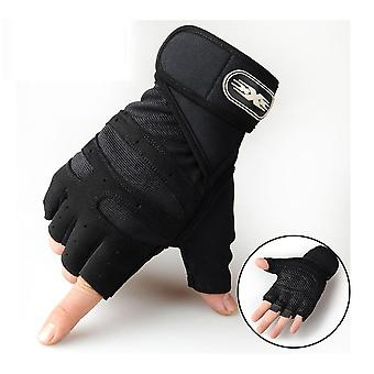 Heavyweight Exercises Half Finger Weight Lifting Gloves, Body Building Gym