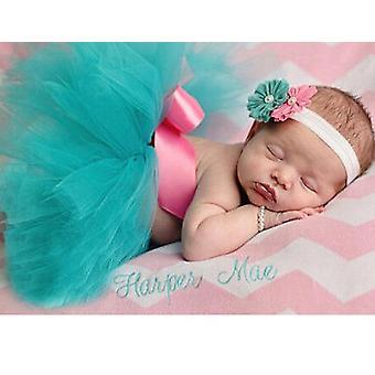 Novorodenec Tutu sukne s čelenka diadém