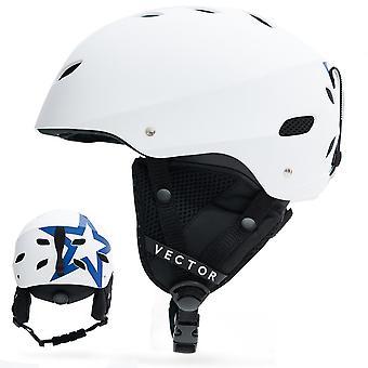ベクトル男女性スノーボードスノーモービルスキーヘルメット