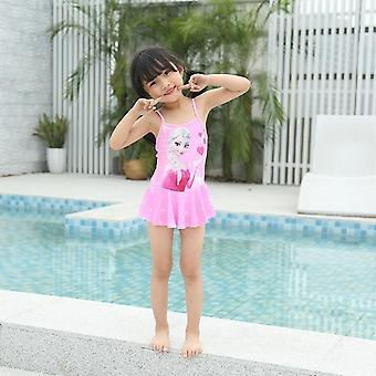 בגד ים של ילדה בתולת ים חתיכה אחת חצאית flounced נדנדה בגדי ים