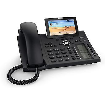 Wokex D385 IP Telefon, SIP Tischtelefon Farbe + SmartScreen, 12 SIP-Identitäten,