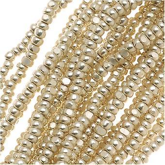 Czech Charlotte Seed Beads 13/0 Metallic Silver 1/2 Hank