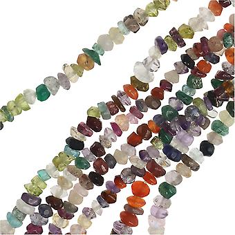 حبات الأحجار الكريمة المختلطة، رونديل ذات الأوجه 2x3mm، 13 بوصة ستراند، متعددة الألوان