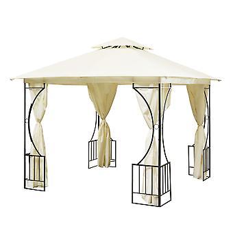 Partytent 300x300 cm beige – Vierkant Tuinpaviljoen