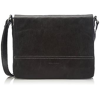 Gerry Weber Lugano Flap Bag M, Women's Crossbody Bag, Black (Black 900), 35x24x8 cm (B x H x T)