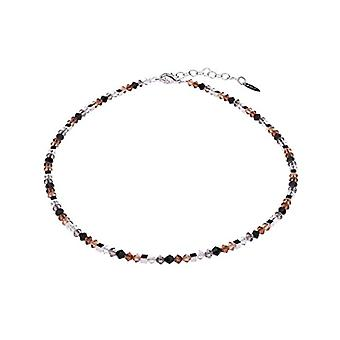 """by - Delicate """"Sana"""" glass necklace, with small polished glass beads and silver cubes, handmade in Berlin Ref. 425118864674"""