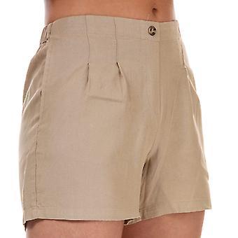 Vero Moda Astimilo High Waist Shorts Dames in Crème