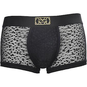 HOM Temptation Apollon Leopard Lace Boxer Trunk, Black