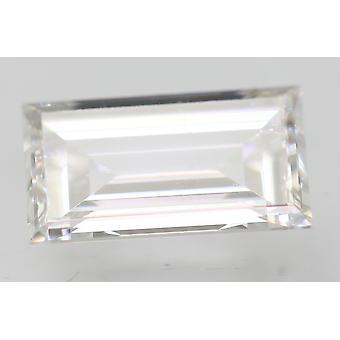 Certificeret 0,46 Karat D VVS2 Baguette Forbedret Natural Diamond 6.26x4.73mm 2EX