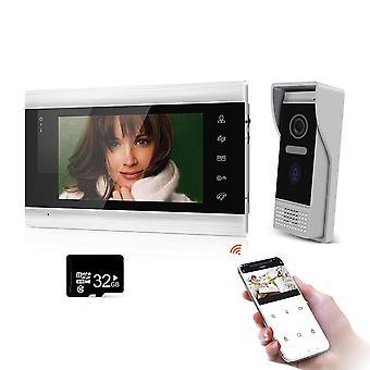 Смартфон7 '' Wifi Беспроводные видеодомофоны для домашнего внутреннего монитора