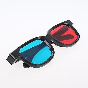 3d Brille schwarz Rahmen für dimensionale Anaglyphe, TV-Film, Dvd-Spiel, Video