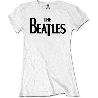 The Beatles - Drop T Logo Dames X-Large T-Shirt - Wit