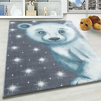 Tappeto per bambini SAMY motivo tappeto per bambini orso polare
