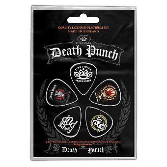 Pěti finger death punch - Loga Plectrum Pack