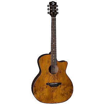 Luna gypsy grand auditorium acoustic guitar exotic spalt