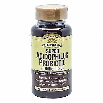 Windmill Health Super Acidophilus Probiotic, 60 Caps