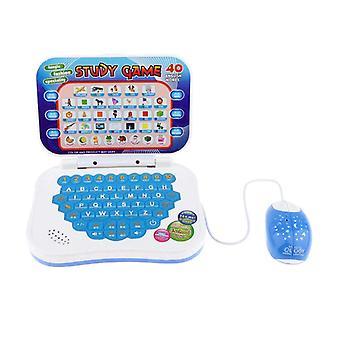 Flerfunksjons tospråklig læringsmaskin, mini bærbar datamaskin leketøy